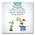 Carte postale - Bon anniversaire 'paquet'