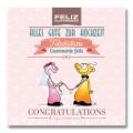 Carte postale - Félicitations Mariage 'corde au cou'