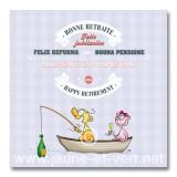 Carte postale - Bonne retraite 'barque'